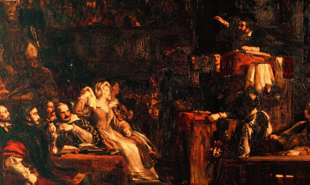 The Preaching of Knox before the Lords of the Congregation, June 10th 1559 - Sir David Wilkie 1832